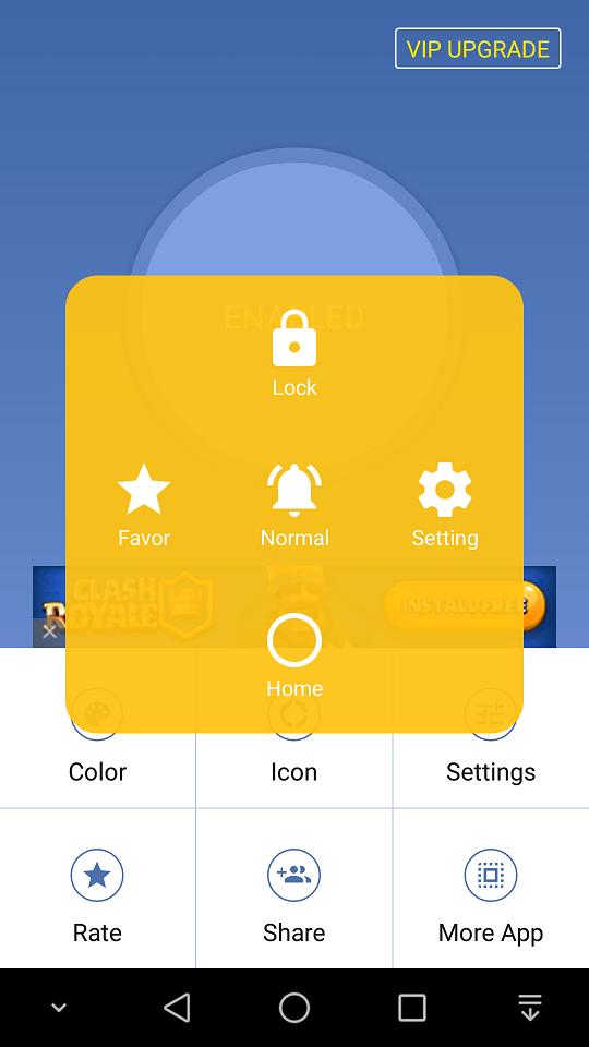 Buton virtual cu multe functii pentru Android, totul in stilul IOS