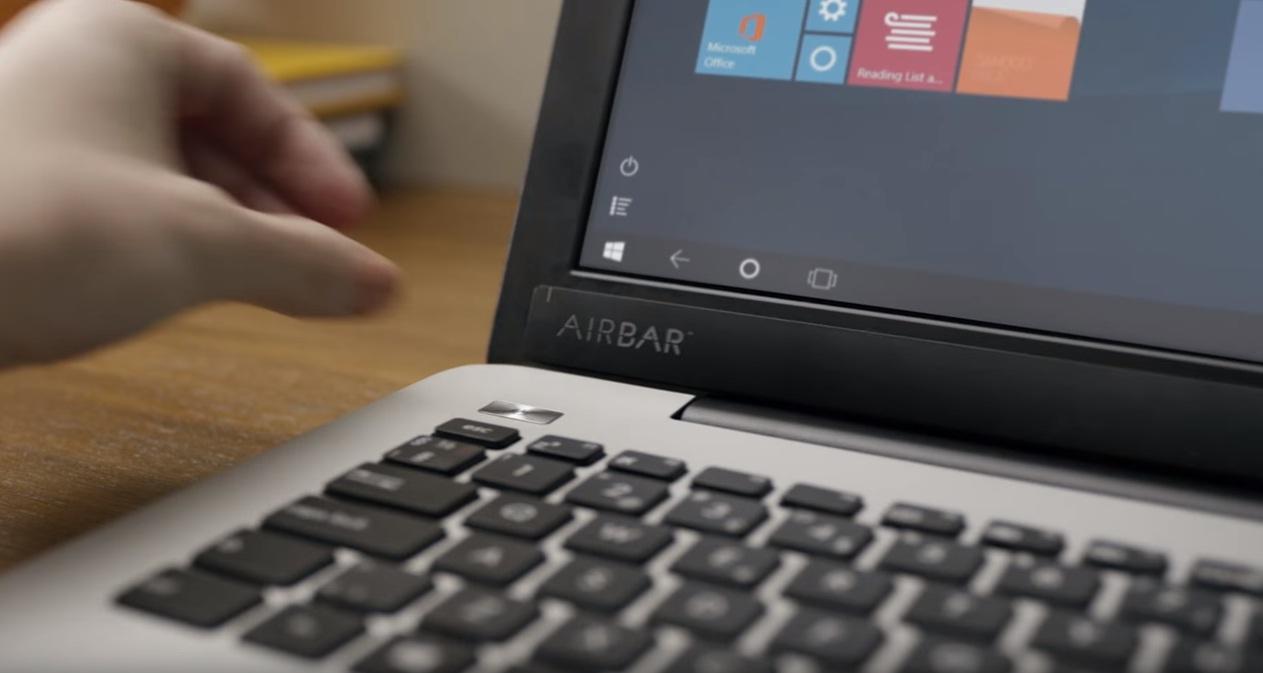 AirBar, transforma ecranul unui laptop intr-un touchscreen