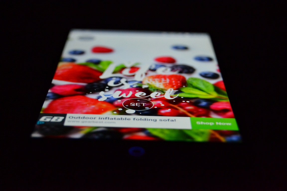 Review UMI SUPER, partea de display, 5.5″ FHD SHARP