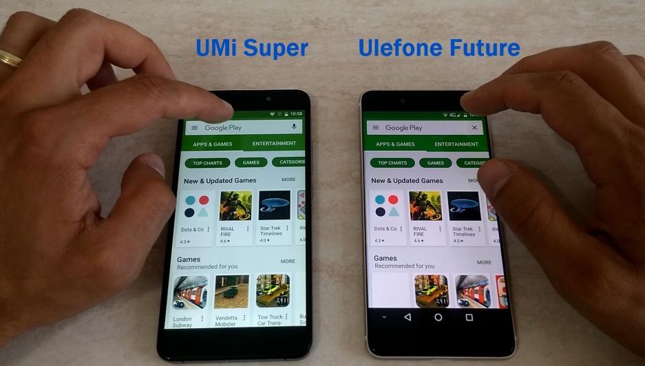 Ulefone Future vs UMi Super, teste VIDEO si comparatii