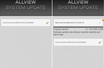 Allview E4 primeste update firmware OTA oficial