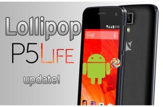 Firmware update la Android 5.0 Lollipop pe Allview P5 LIFE