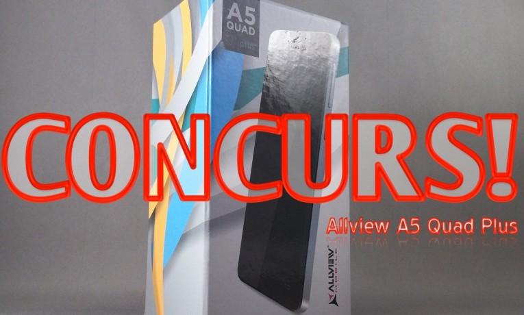Unboxing si CONCURS Allview A5 Quad Plus
