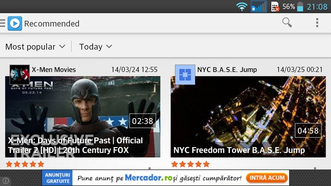 2 O Buna Alternativa HD La YouTube Pe Android