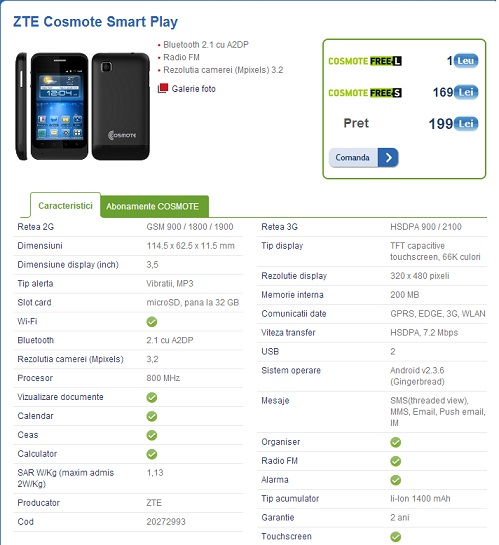 Untitled ZTE Cosmote Smart Play Cel Mai Ieftin Telefon