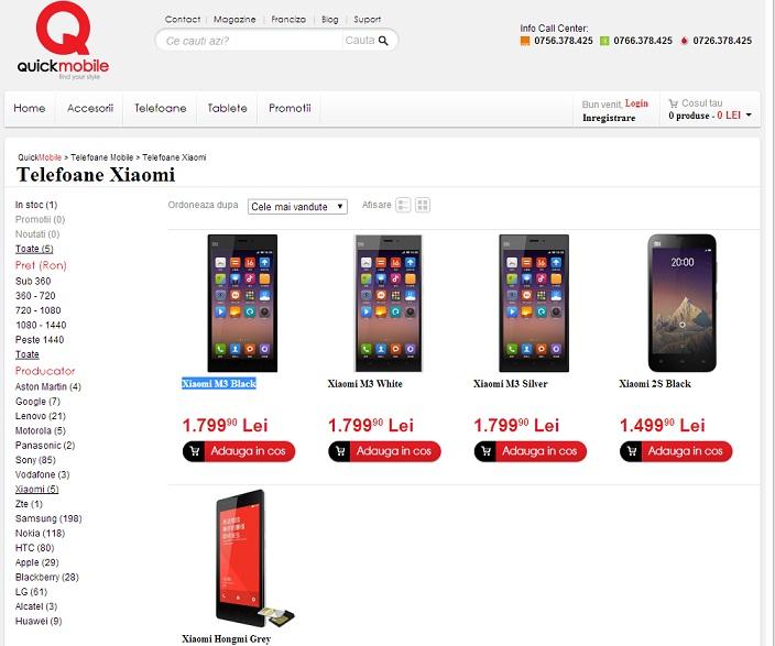 Untitled Telefoane Xiaomi In Romania - Preturi