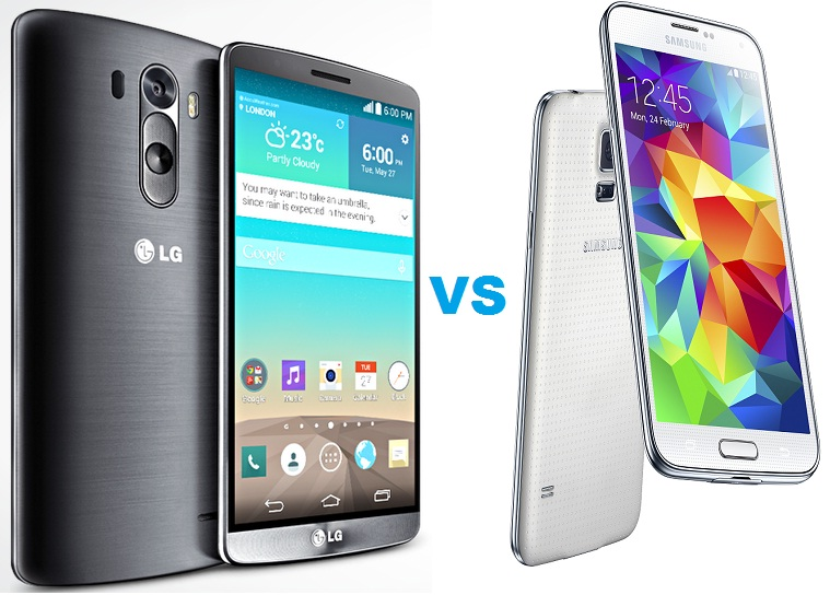 Untitled LG G3 vs Samsung Galaxy S5 - Comparatie