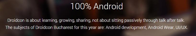 untitled Droidcon Bucuresti 2014 - Pasionatii De Android