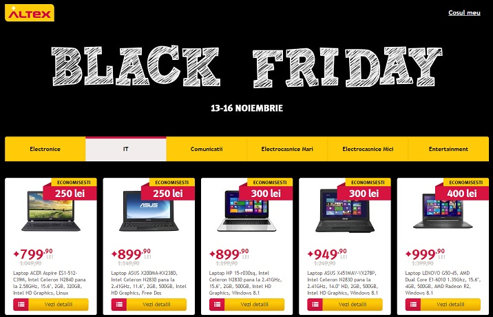 altexblackhpdf Black Friday La Romani Azi Altex