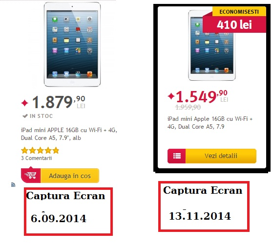 captura ecranewrqer Black Friday La Romani Azi Altex