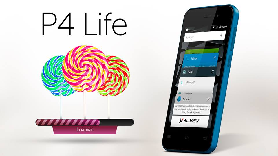 3wtr Allview P4 Life Va Primi Android 5.0 Lollipop