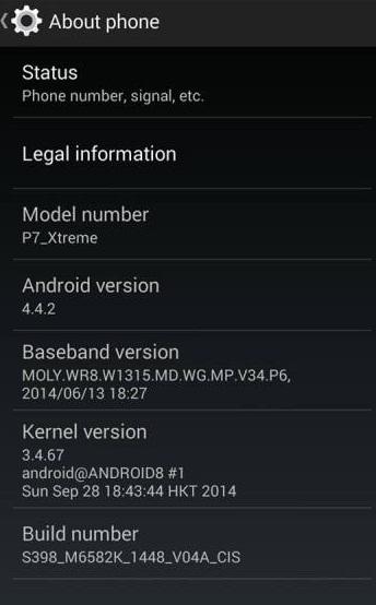 wertgs Custom firmware pentru Allview P7 Xtreme