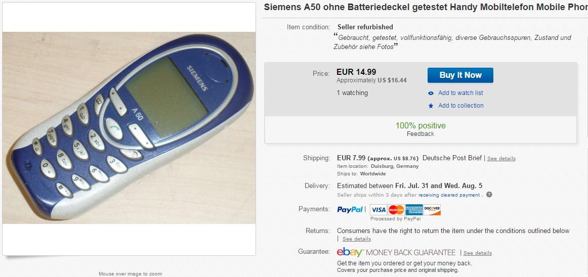 5efw Iata cat mai costa un telefon clasic Nokia pe eBay