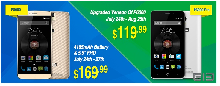 Elephone Elephone P6000 Pro si Elephone P8000 la super preturi