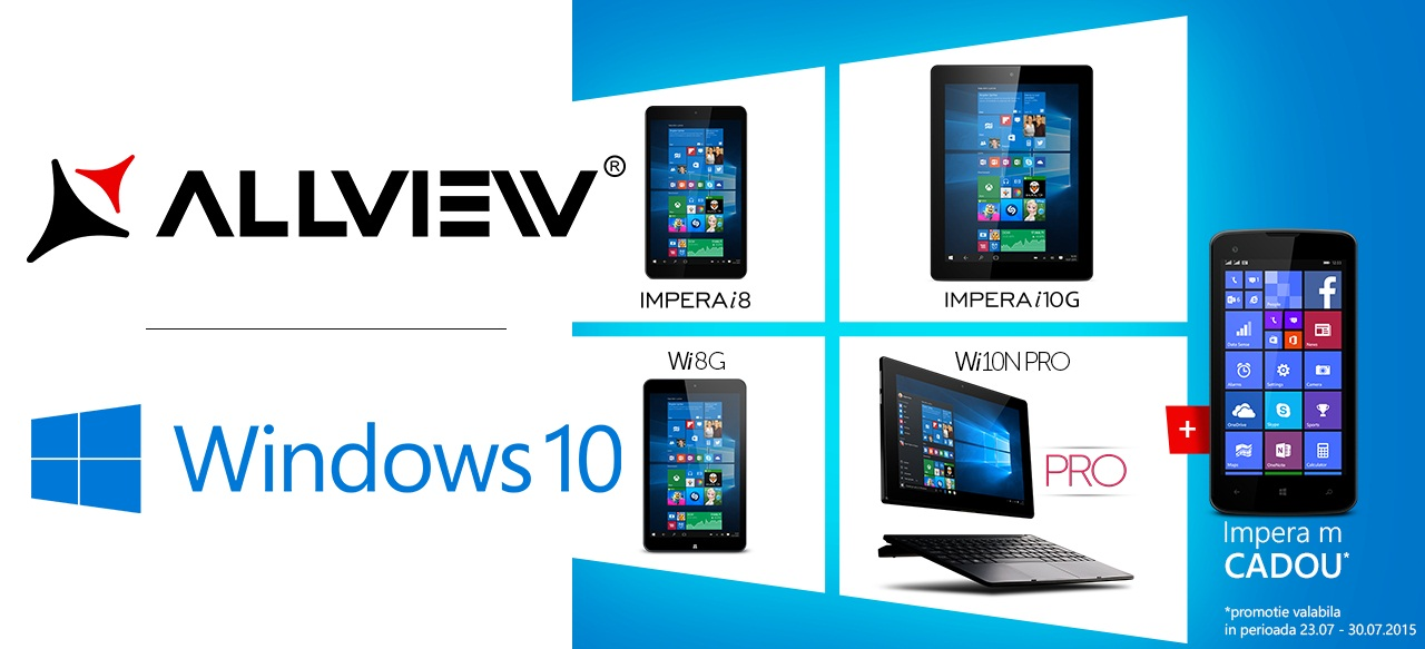 werse Allview Impera i10G+ si Impera i8+ specificatii si preturi