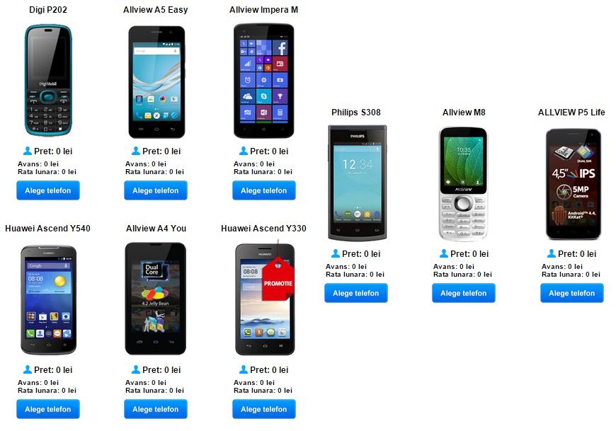 43 Ce telefoane sunt gratuite la Digi Mobil in august 2015