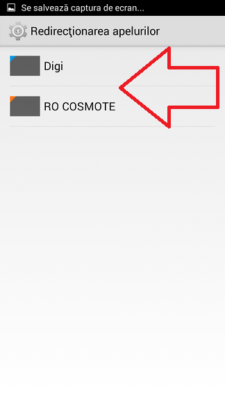 Redirectionare apeluri pe un telefon Android