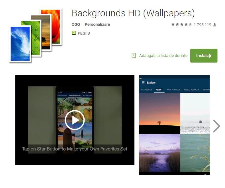 erre 10 aplicatii pentru personaliare Android August 2015