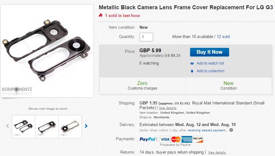 qwe Tutorial cum schimbi lentila camerei foto pe un LG G3