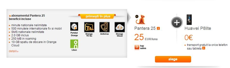 wr Huawei P8 Lite disponibil gratuit la Orange