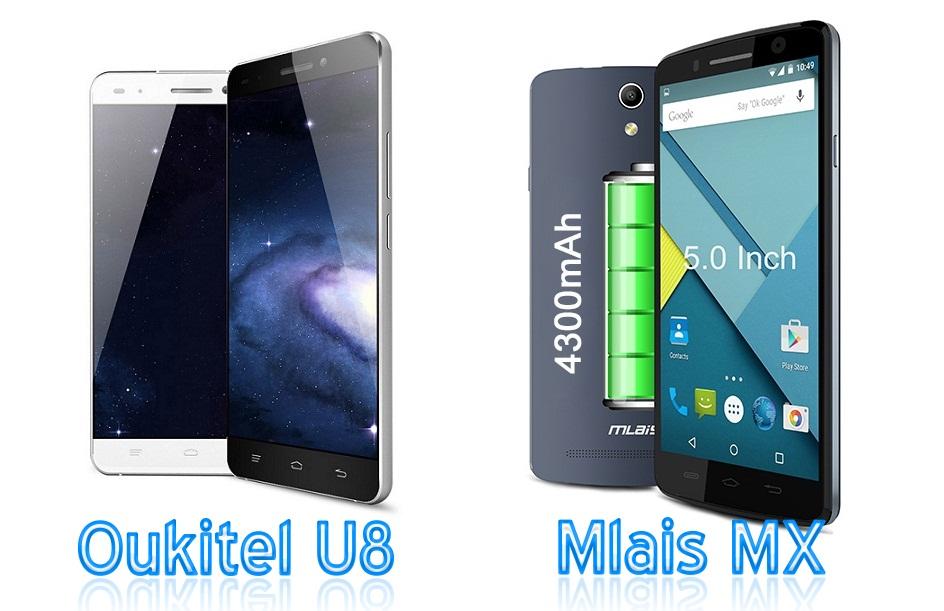 33 Mlais MX versus OUKITEL U8, doua telefoane chinezesti ieftine