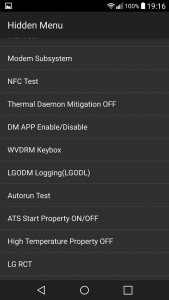 Coduri secrete, meniuri ascunse si teste pentru LG G3
