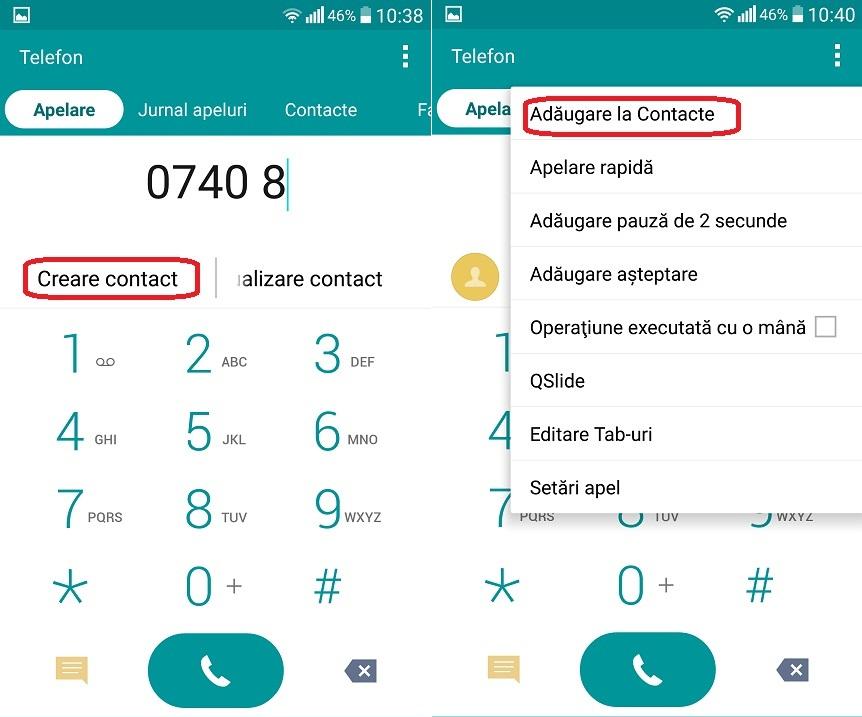 dgfdg Ep 1 - Salvarea unui numar pe SIM sau in memoria telefonului si pictograma setari
