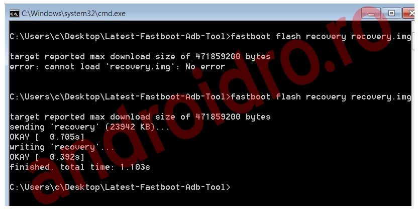 e3 Instalare flash recovery TWRP 2.8.7 Kirin pe Huawei P8 Lite
