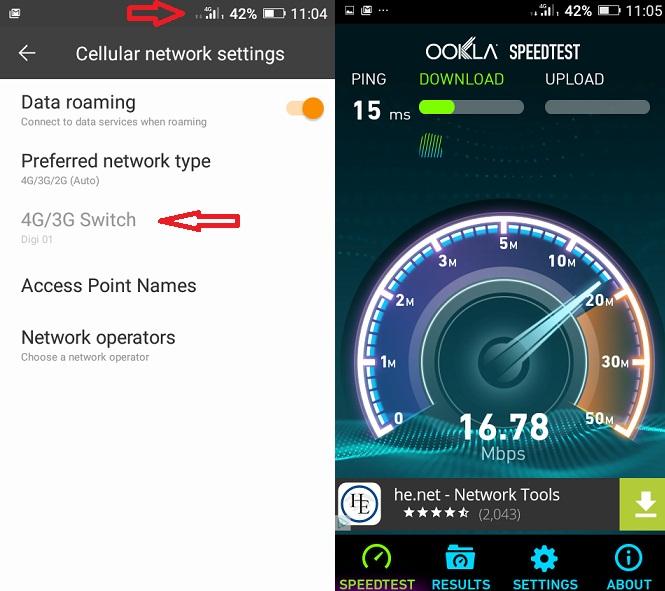 eee Test 4G DIGI Mobil comparat cu 4G de la Orange