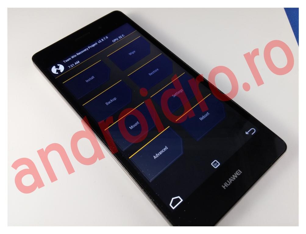 eraew Instalare flash recovery TWRP 2.8.7 Kirin pe Huawei P8 Lite