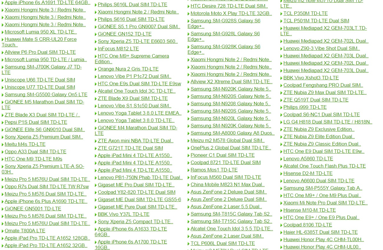 2 Lista telefoanelor chinezesti compatibile cu DigiMobil 4G B38 2600 mhz