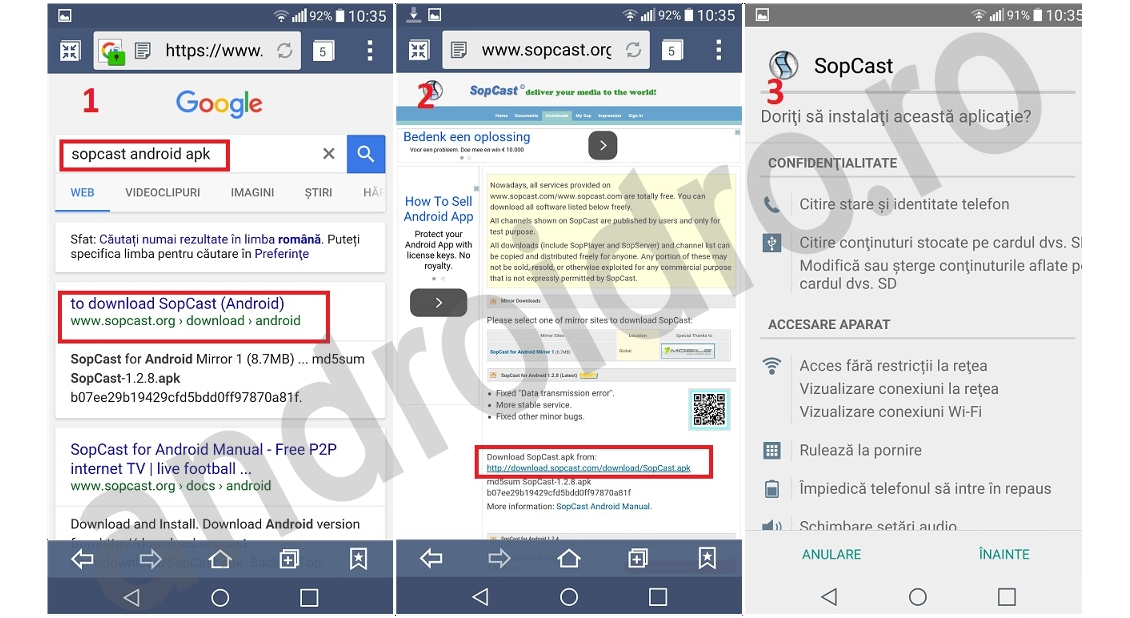56 Canale TV online romanesti gratuit pe telefon cu aplicatia SopCast