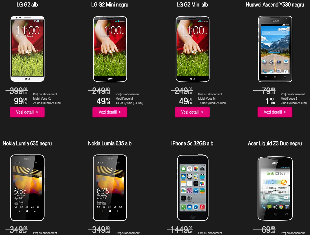 ggg Cateva oferte de telefoane la pret foarte bun la abonament Telekom