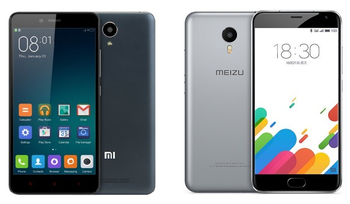 rt Meizu Metal vs Xiaomi Redmi Note 2, duelul Helio X10