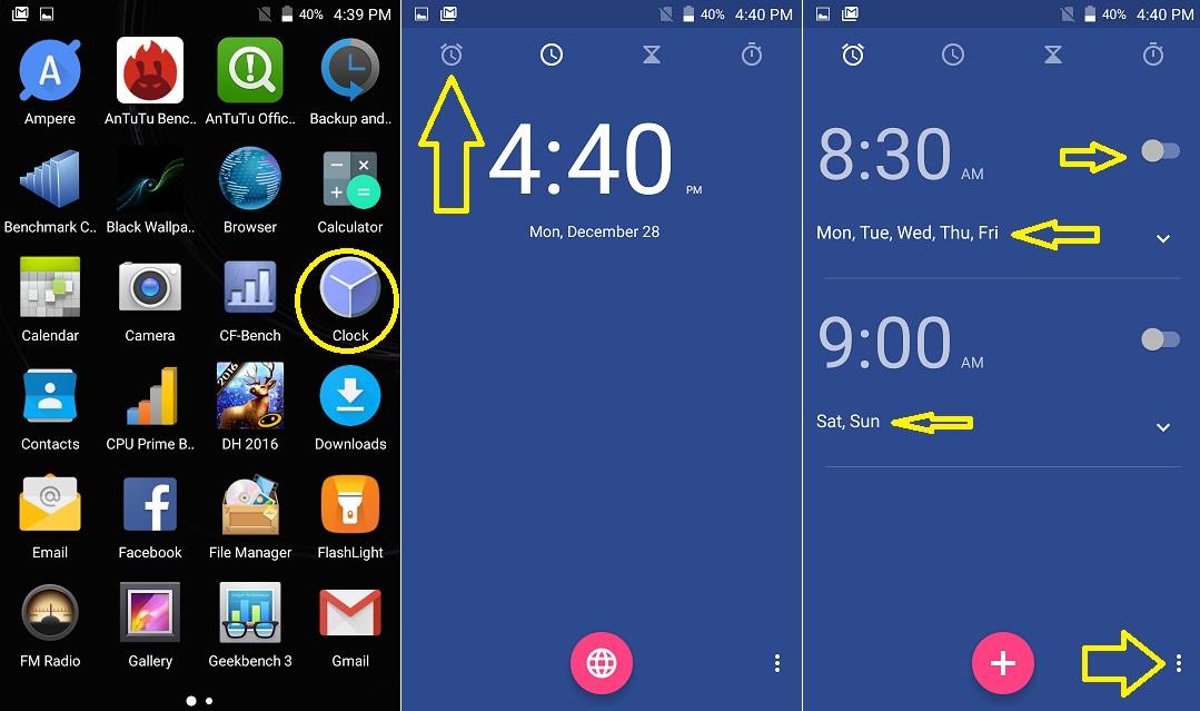 1 Ep5 - Cum setez alarma pe un telefon cu Android