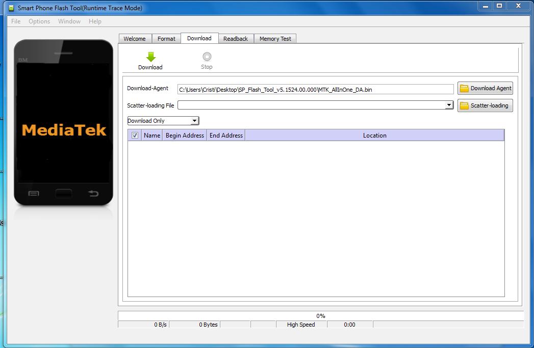 1 Tutorial folosire SP Flash Tool pentru rescriere firmware