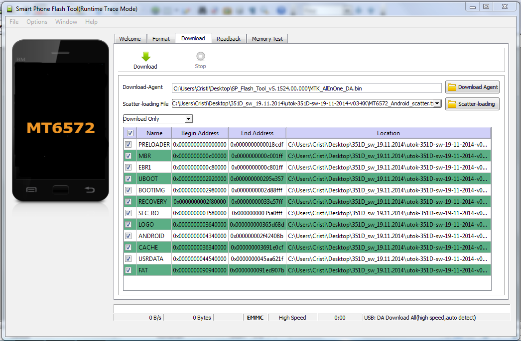 2 Tutorial folosire SP Flash Tool pentru rescriere firmware