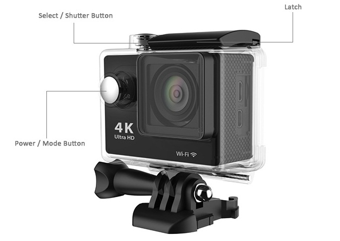 4545 EKEN H9 Ultra HD 4K, camera video de actiune ieftina