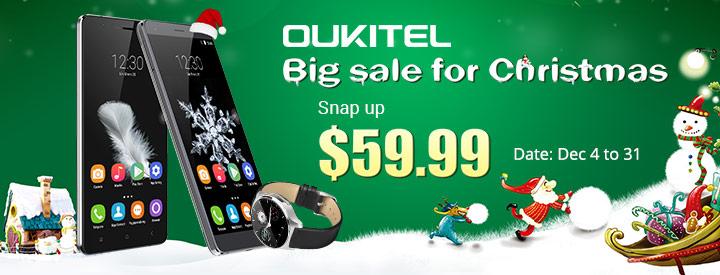 OUKITEL_christmas Promotie la produsele Oukitel, preturi incepand cu 210 lei