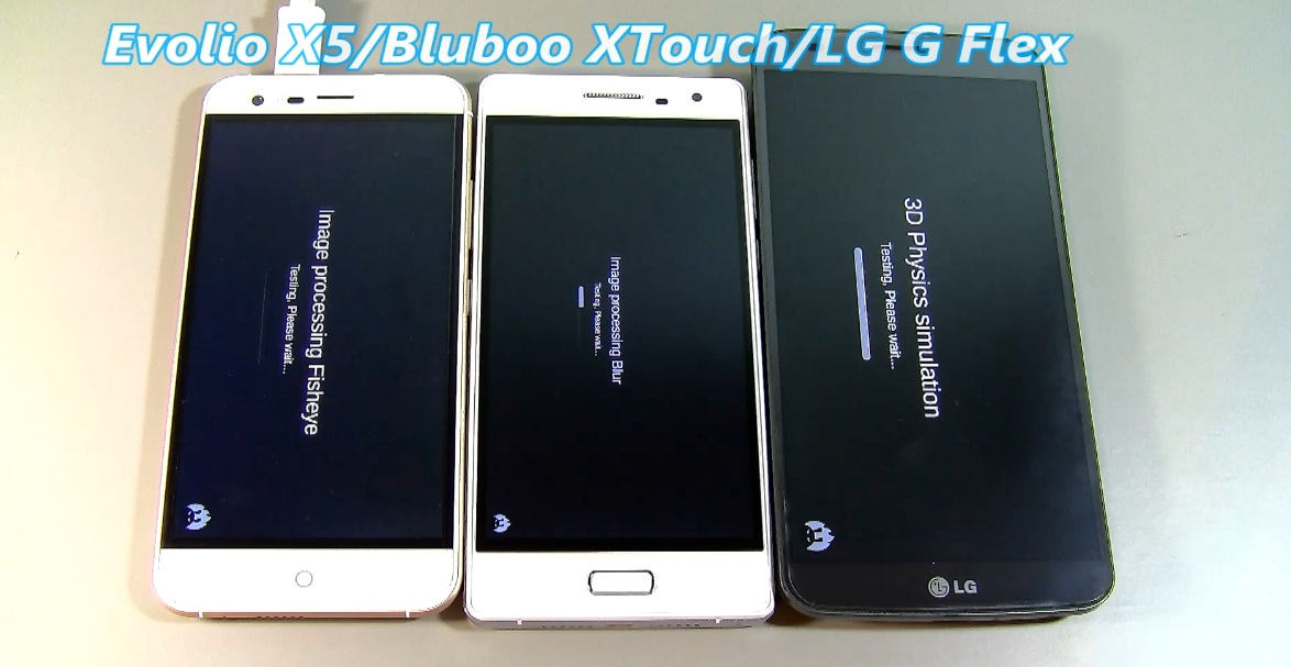 Untitled LG G Flex vs Evolio X5 Vs Bluboo xTouch, test video
