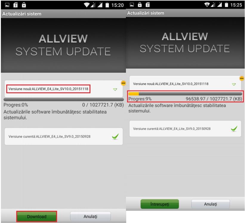 ghgh Allview E4 Lite primeste un update de firmware oficial via OTA