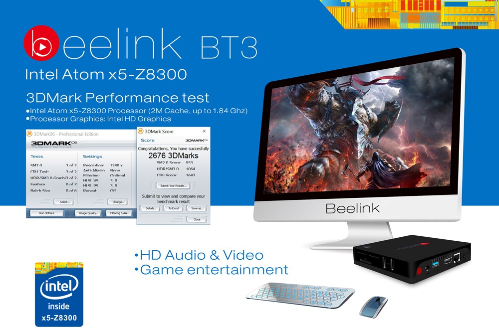 777 Beelink Intel BT3 TV Box de calitate cu procesor Intel si Windows 10