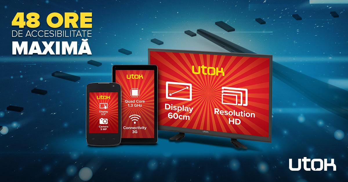 1200x628-48h-utok Televizor de 61cm la numai 499 lei sau telefon cu Android la 149 lei? Campanie fulger UTOK!