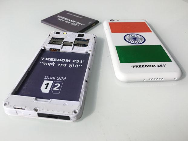 3 Poze reale cu Freedom 251, cel mai ieftin telefon din lume, numai 16 lei
