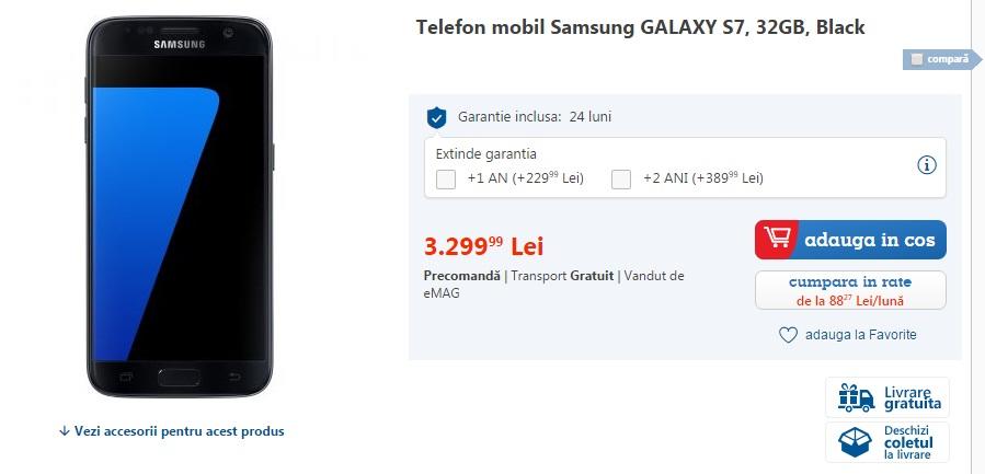 678 Samsung Galaxy S7 si S7 Edge ajung la eMag, iata pret si ofertele