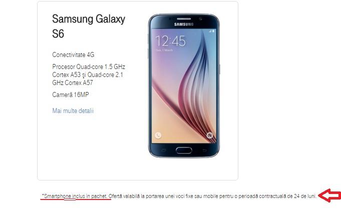 dc Samsung Galaxy S6 oferit gratuit la portatea in reteaua Telekom