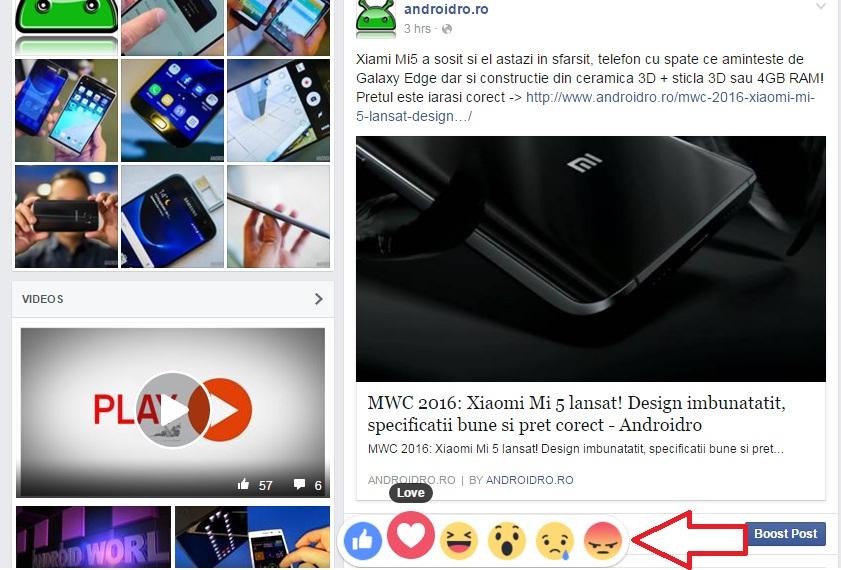 dfdf Noi butoane Facebook! Sad, angry, love si wow, de acum poti penaliza pe cineva!