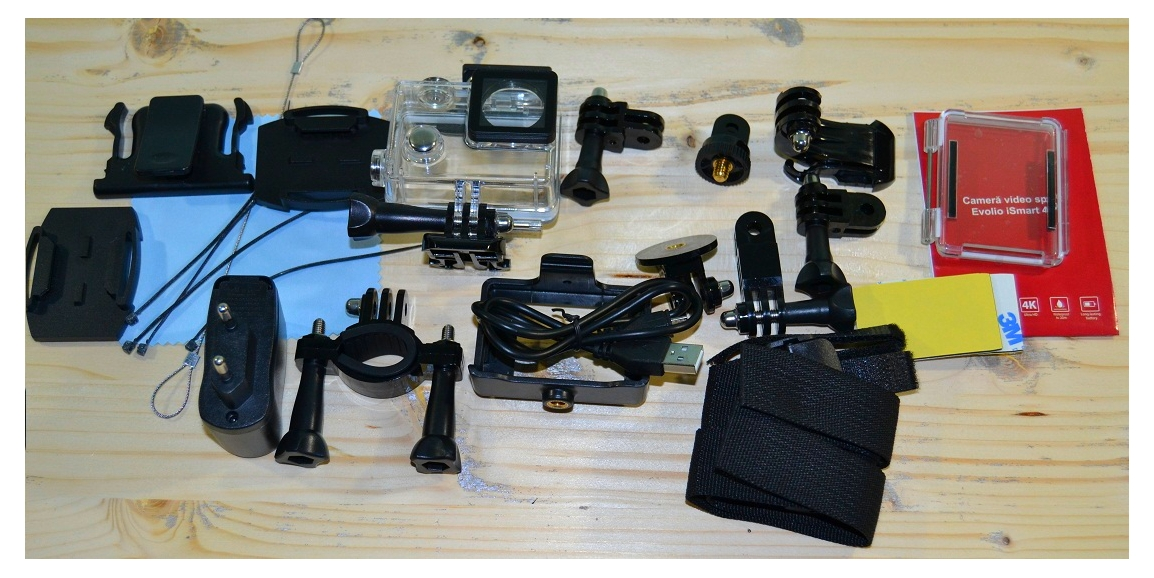 DSC_0036 Unboxing Evolio iSmart 4K, camera video sport 4K cu o gramada de accesorii!