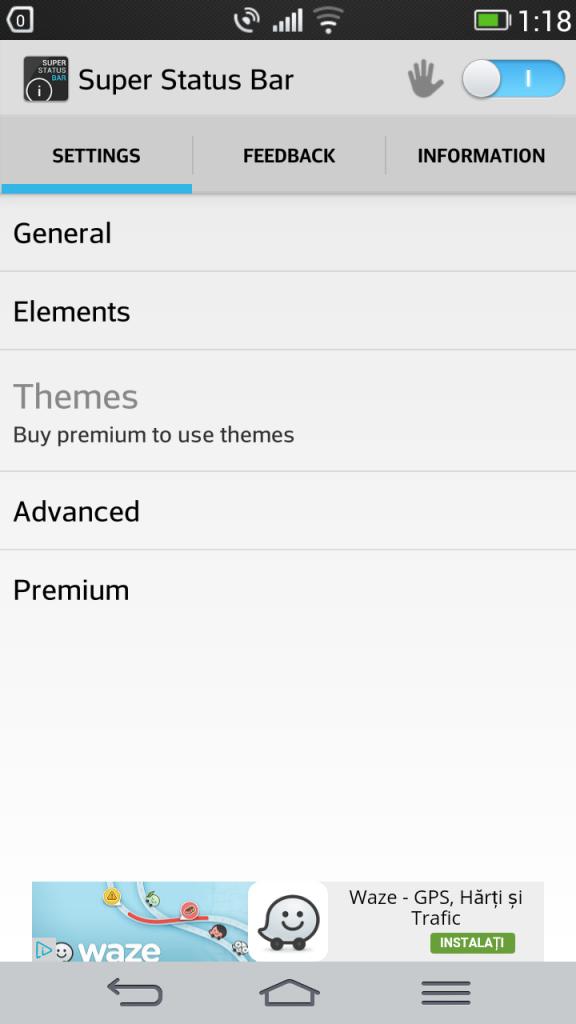 Customizare completa si fara root a zonei Status Bar pe un telefon Android