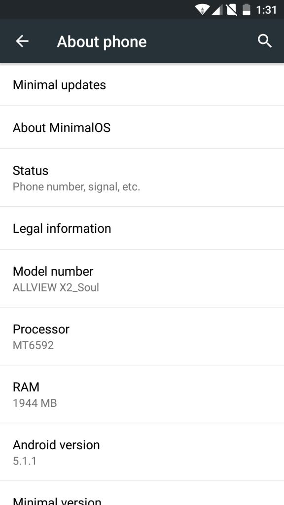 Allview X2 Soul primeste un update firmware, versiunea Lollipop 5.1.1